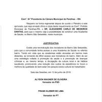 Apresentado requerimento que solicita do Prefeito a construção de uma Academia de Saúde