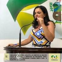 Vereadora Romisélia solicita ao diretor da EMATER liberação de recursos