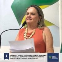 Vereadora Zenilda apresentou requerimento ao Secretário Estadual de Segurança e ao Comandante Geral da Polícia Militar